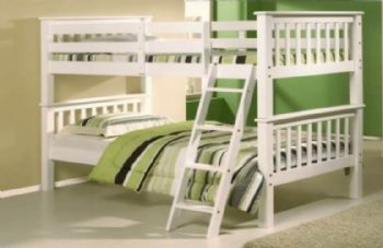 Oxford White Wooden Bunk Bed